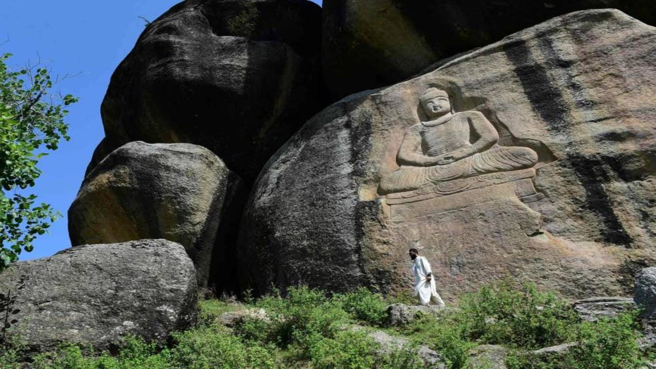 Stone Carving in Swat Valley