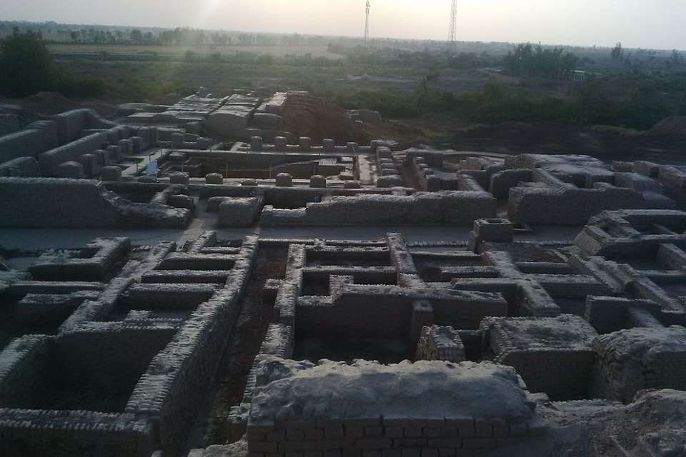 Mohenjo-Daro archaeological site view