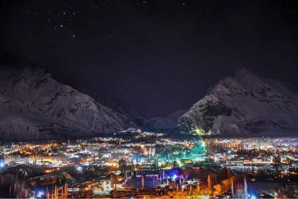 Skardu City at Night